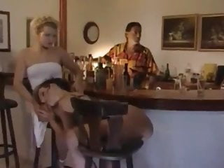 Surprice asshole fuck bang with a horny milf in Public Bar