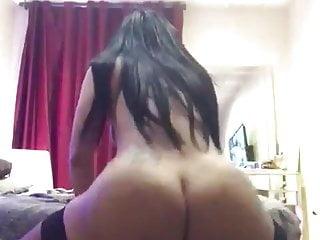 She pounds white chubby guy's ass