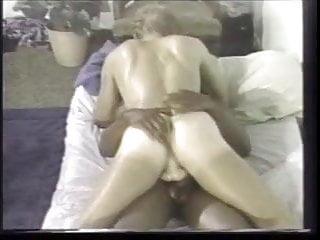 Hot black stud masseuse in otc vintage socks...