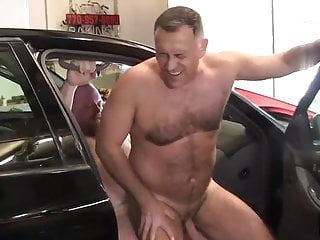 Father in the garage