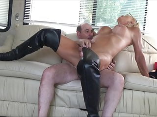 in chastity anal cum stefani boots  swallow
