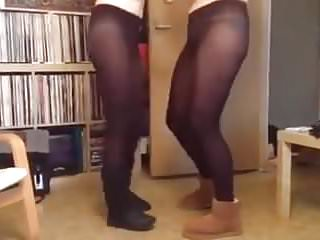 dancing girls in pantyhose