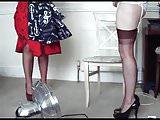 glamour lesbian in lingerie