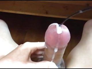 Asian boy sounds amp ozzes thick sperm...
