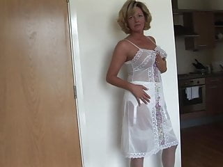 Mature blonde perfect in lingerie...