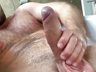 Bear hairy daddy shower time