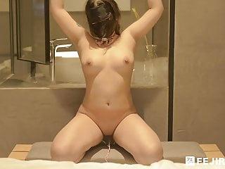 Big boob mask girl masturbating oragsm with toy