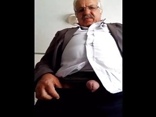 grandpa shows cock and balls