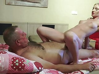 Lusty guy banged Angelika Cristal in park & at home