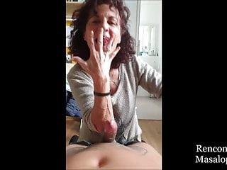 Sexy Mature woman made Perfect Skilled Handjob