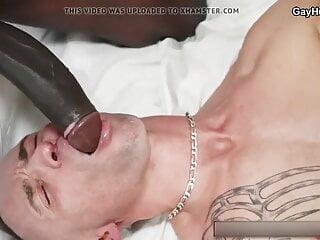 Hot threesome bareback anal fuck. Black guys fucks white