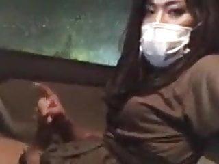 Masturbating in her car...