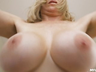 Giant melons MiLF bounces on a young penis