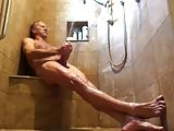Seated shower relaxing