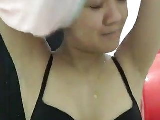 Indonesian Girl Taking Off Her Clothes