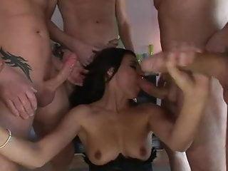 Anal Gaping video: Nice Milf Gangbang