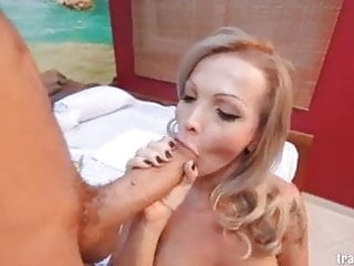 Takes huge cock...