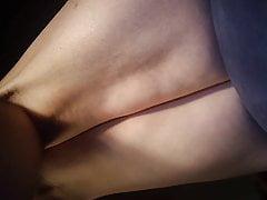 Upskirt fan view lying under MisS HelL Chair.