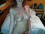 Sexy couple redhead big boobs blowjob fuck fun