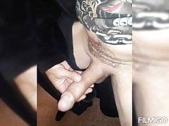 Stroking my big wet horny cock on kik