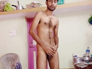 Desi boy nude jearking with piercing cock