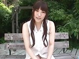 Sweet outdoor solo masturbation with Yuri Sato