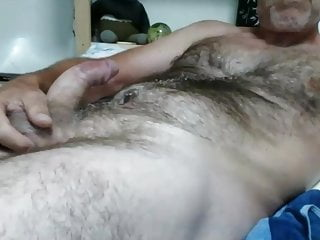 Thick dom shoots hairy chest...