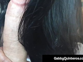 Busty MexiMilf Gabby Quinteros Sucks Dick In The Back Seat!
