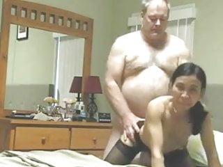 Chubby old guy fucks his...
