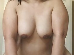 Chubby Asian Wife Riding the Cock Fucking Hard Part2