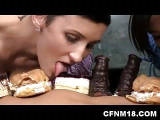CFNM girls enjoy fully naked embarrased male covered