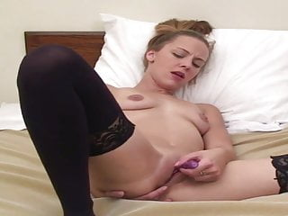 babe loving her ass and pussy with fingers and vibrator