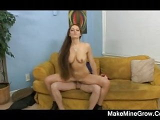 Flexible Rochelle Ryder laid in her couch