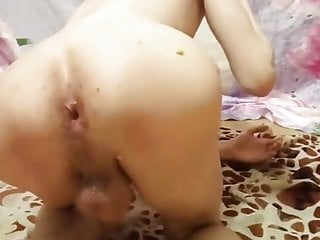Russian slave gay and three banana anal insertion