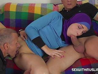 Lazy muslim maid gets hardcore double penetration...