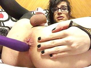 Ava dildos and cums again
