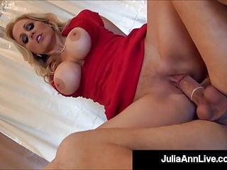 hot mature mommy julia ann gets 2 cocks & 2 loads of cum!HD Sex Videos