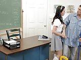 Natalie en classe