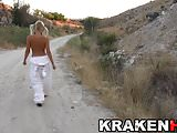 Krakenhot - Sweet Funny Bunny showing her body outdoor