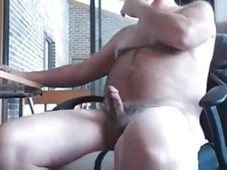 Deltajob daddy bear jerks and cums...