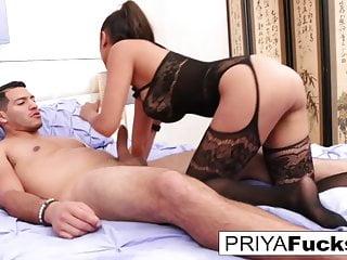 Bombshell Priya bangs her friend until he drops a giant load