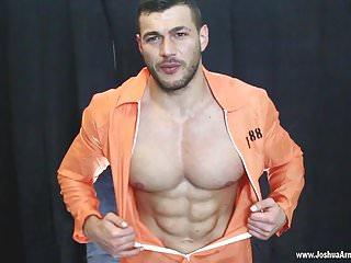 Muscle man prison cock...