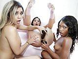 Lesbian Aaliyah Hadid, Abella Danger and Noemie Bilas