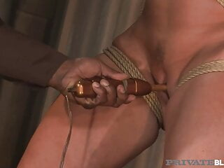 Private Black - Tied Up Cougar Flower Tucci Fucked By BBC!