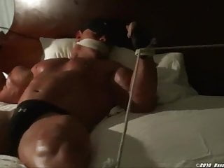 Bald bodybuilder bondage 01...