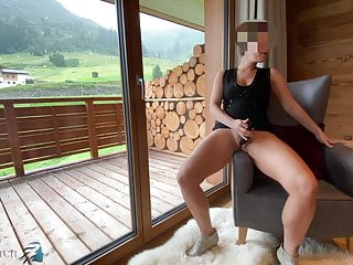 Sexy secretary in dress plays with dildo - projectsexdiary