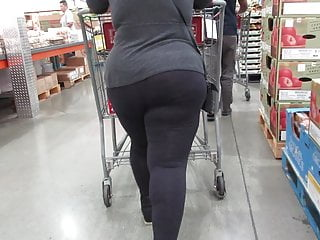 With fabulous thick legs and mega ass in...