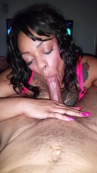 Ebony Coworker Sucking Dick