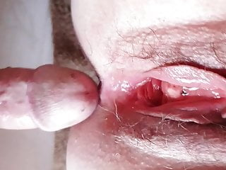 Mature granny friend enjoying my cock squirting and...
