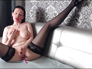 Heel and   Fucks with Pussy - Dildo Olga Finger